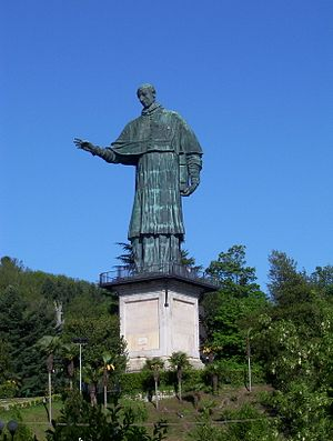 The famous Sancarlone, a giant statue of St. C...