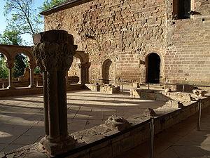 Royal Monastery of San Juan de la Peña - Loggia in the monastery.