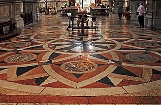 San Salvador, Venice - Image: San Savador pavimenti