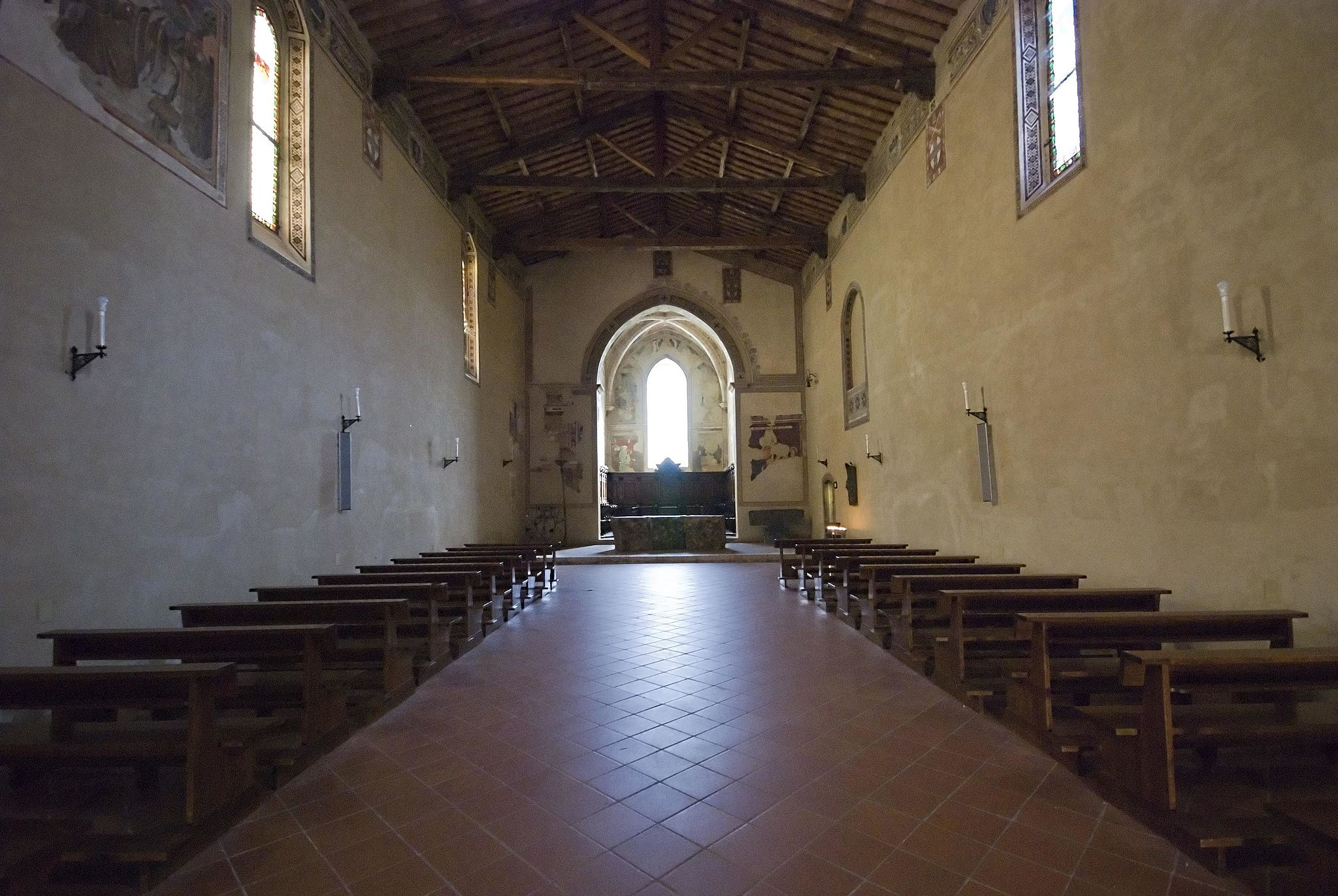 Interior of the chiesa di San Francesco, Pienza