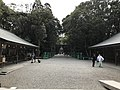 Sando in front of Shimmon gate of Miyazaki Shrine.jpg