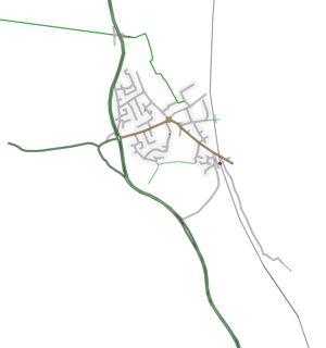 Sandy, Bedfordshire - Roads layout in Sandy (partial)