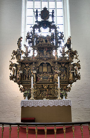 Lorentz Jørgensen - Altarpiece, Sankt Nicolai Kirke, Køge