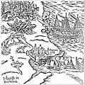 Santa-Cruz do Cabo de Gué in Hans Staden, Voyage au Brésil. 1557.jpg