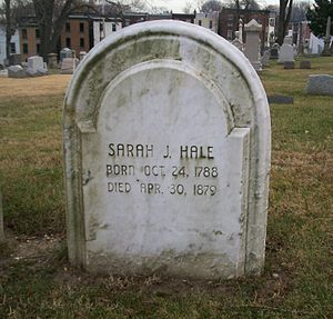 1879 in poetry - Grave of Sarah Josepha Hale in Philadelphia