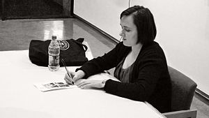 Sarah Vowell - Vowell signing books after a lecture at Lamar University, Beaumont, Texas, 2010