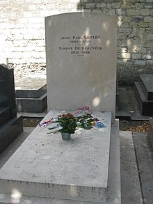 jean paul sartre  sartre s and de beauvoir s grave in the cimetiere de montparnasse