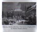 Saturday Market Beverley, Fair Scene at Night, 1920 Thomas Bonfrey Burton.png