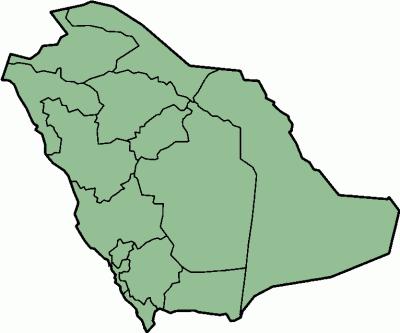 Saudi Arabia - province locator template