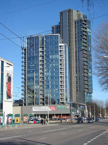 Helios City complex in Naujamiestis with shopping mall and apartments Savanoriu avenue Vilnius.JPG