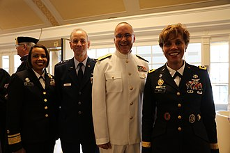 Sylvia Trent-Adams - Sylvia Trent-Adams with the surgeons general of the Air Force, Navy and Army in May 2017