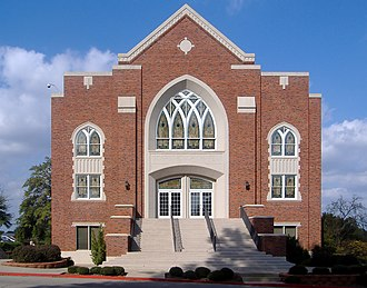 East Texas Baptist University - Image: Scarborough Chapel (front) edit