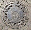 Schachtdeckel mit Wappen der Stadt Minden, Nordrhein-Westfalen.jpg