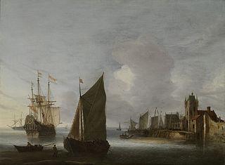 Shipping on the east Schelde near the Zuidhavenpoort, Zierikzee