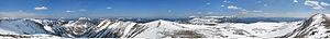 Schneealpe - Image: Schneealpenpanorama Apr 2005