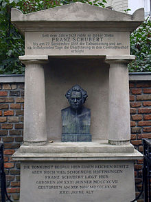 The site of Schubert's first tomb at Währing (Source: Wikimedia)
