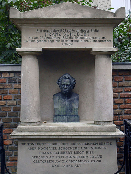 The site of Schubert's first tomb at Wahring Schubert Franz.jpg