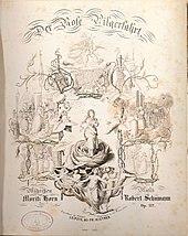 Titelblatt der Erstausgabe von Der Rose Pilgerfahrt (Quelle: Wikimedia)