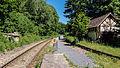 """Schwarzburg Gleis - Bestandteil der Sachgesamtheit """"Eisenbahnstrecke Oberweißbacher Berg- und Schwarzatalbahn"""" 2.jpg"""