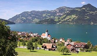 Beckenried - Image: Schweiz Vierwaldstättersee Beckenried 0236