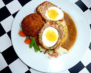 Scotch egg - Scotch egg, halved