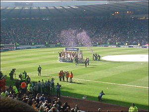 2008 Scottish Cup Final - Rangers celebrating their victory