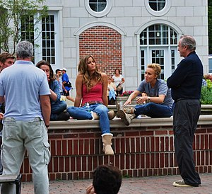 Scream 4 - Cast of movie on the set in July 2010