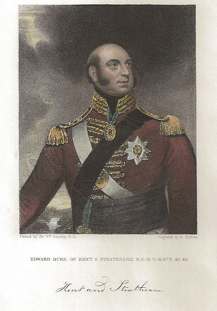 Edward Scriven engraving of Prince Edward, Duke of Kent and Strathern (1834) after W. Beechey's portrait Scriven Prince Edward.jpg