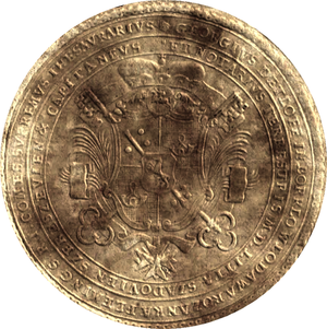 Podskarbi - Seal of the Grand Treasurer of Lithuania Jerzy Detloff Flemming in 1757
