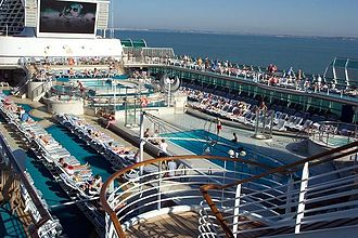 Sea Princess - The main deck of Sea Princess during a cruise in the Mediterranean Sea.