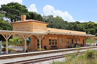 Sebring, Florida - The Sebring station, served by Amtrak's Silver Meteor and Silver Star trains