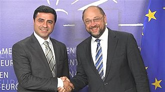 Selahattin Demirtaş - Demirtaş meeting with the President of the European Parliament, Martin Schulz in 2013