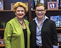 Senator Stabenow meets with a constituent from Michigan. (26982755472).jpg