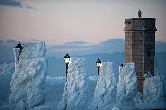 Bora (wind) - Senj during the Eastern European Cold Wave.