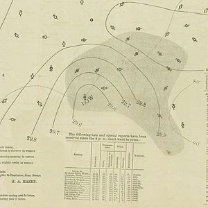 1893 Atlantic hurricane season - Image: September 8, 1893 hurricane 8 map