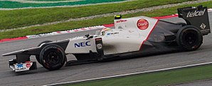 2012 Malaysian Grand Prix - Sergio Pérez qualified just behind eventual race winner Fernando Alonso in 10th.