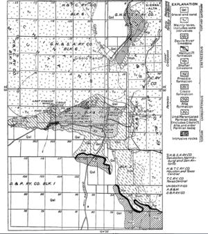 Shafter, Texas - Shafter Region Geologic map