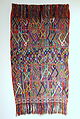 Shawl, Ixil Maya, Nebaj, mid to late 20th century, cotton - Textile Museum of Canada - DSC01404.JPG