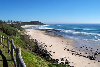 Ballina, New South Wales - Image: Shelly Beach Ballina from Lookout