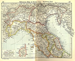 Camunni - Northern Italy according to William R. Shepherd's Historical Atlas; the Camunni are at the western end of Venetia