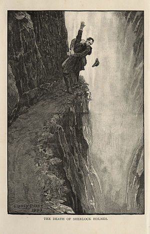 The Final Problem - Image: Sherlock Holmes and Professor Moriarty at the Reichenbach Falls