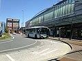 Showa Bus in front of north entrance of Kyudai-Gakkentoshi Station.JPG