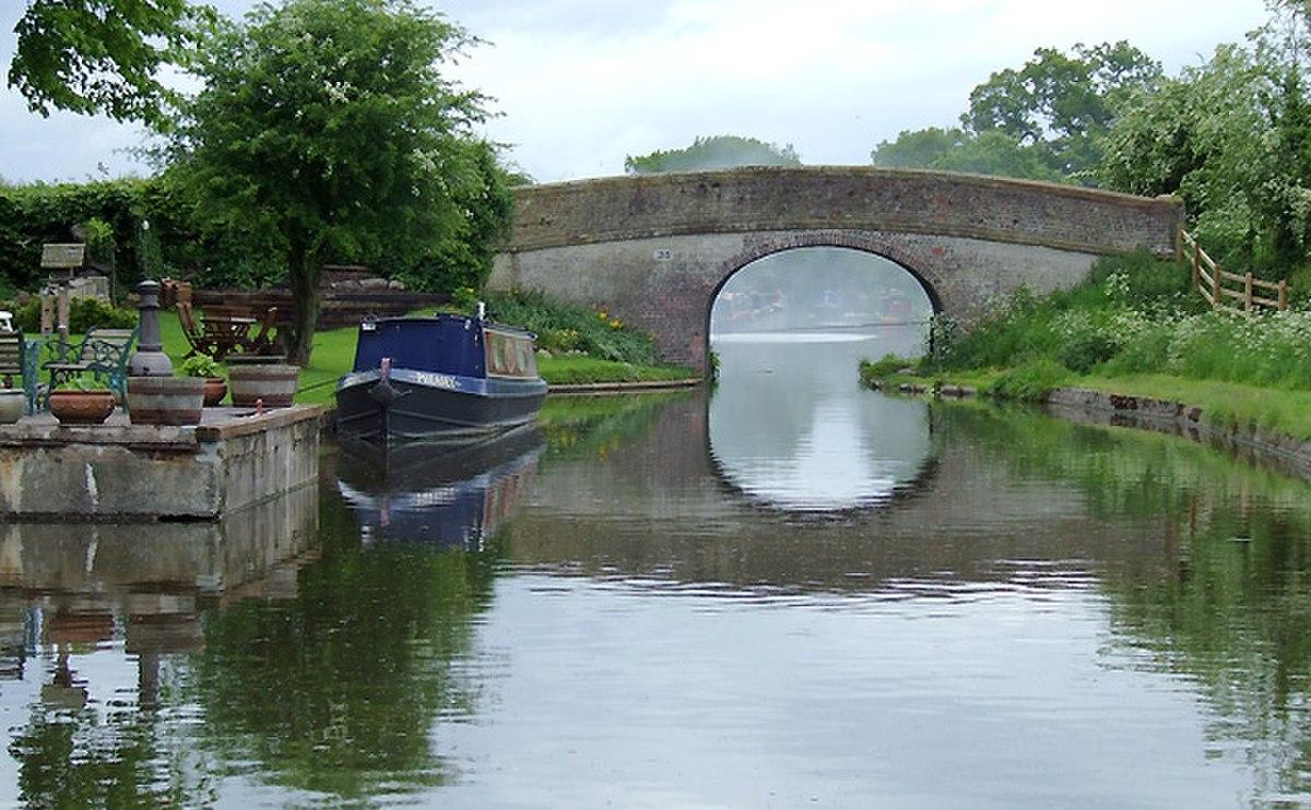 Shropshire Union Canal at High Onn, Staffordshire - geograph.org.uk - 1384540.jpg