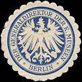 Siegelmarke Der Generaldirektor der K. Museen Berlin W0352229.jpg