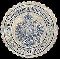 Siegelmarke K.K. Bezirkshauptmannschaft Tetschen W0307711.jpg