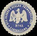 Siegelmarke K.Pr. 2. Schlesisches Feldartillerie Regiment No. 42, I. Abtheilung W0346846.jpg