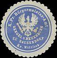 Siegelmarke K.Pr. Bürgermeister-Amt Bengel und Neuerburg zu Bausendorf Kreis Wittlich W0382476.jpg