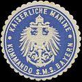 Siegelmarke K. Marine Kommando S.M.S. Bayern W0357624.jpg