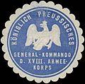 Siegelmarke K. Preussisches General-Kommando des XVIII. W0338224.jpg