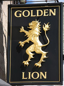 Sign for the Golden Lion - geograph.org.uk - 852121